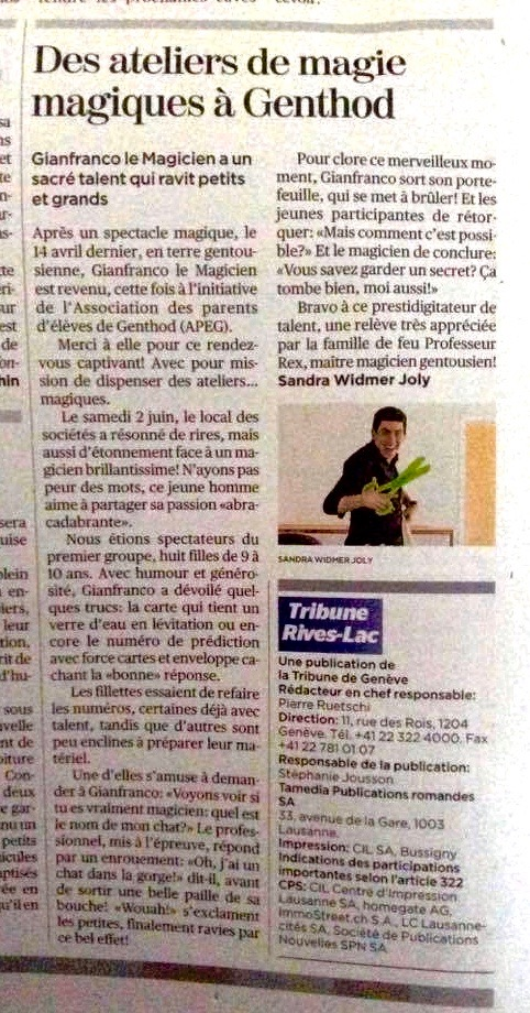 Article Gianfranco le Magicien